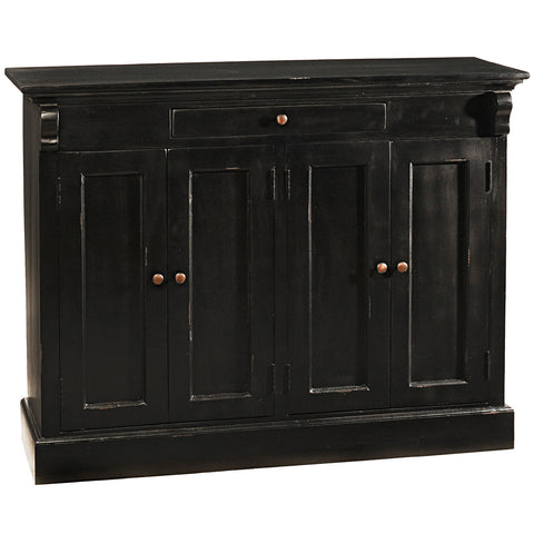 Aston Four Door Cabinet, Black