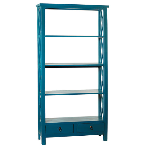 Allison Bookcase Large, Teal