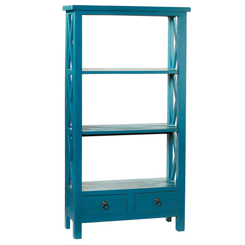 Allison Bookcase Medium, Teal