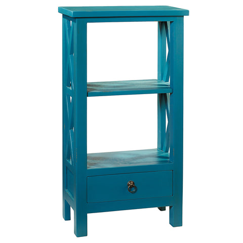 Allison Bookcase Small, Teal