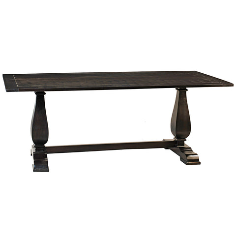 Tabitha Trestle Dining Table, Rustic Espresso