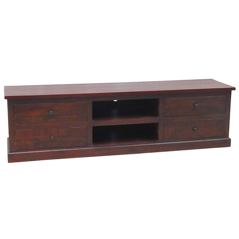 Morgan Media Stand, Rustic Tobacco