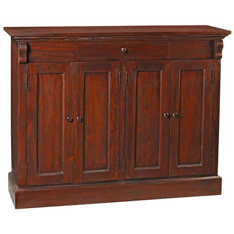 Aston Four Door Cabinet, Light Mahogany