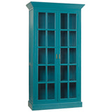 Claire Glass Door Cabinet, Teal