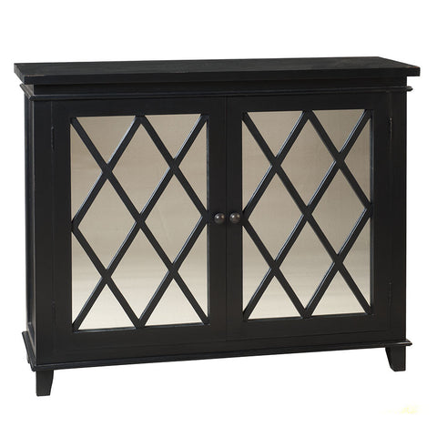 Diamond Mirror Cabinet, Black