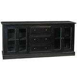 Caroline Glass Door Buffet, Black