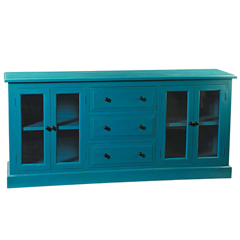Caroline Glass Door Buffet, Teal