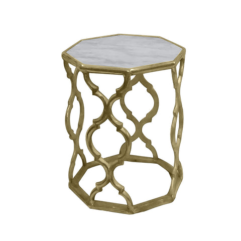 Sion Marble Side Table Medium, Gold