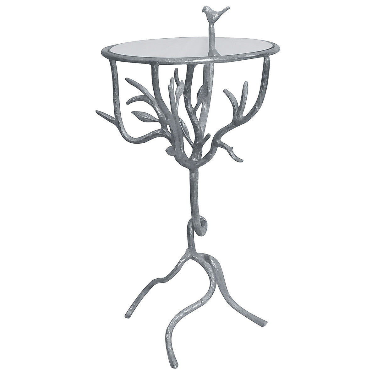 glass side table. Basil Aluminum \u0026 Glass Side Table, Table