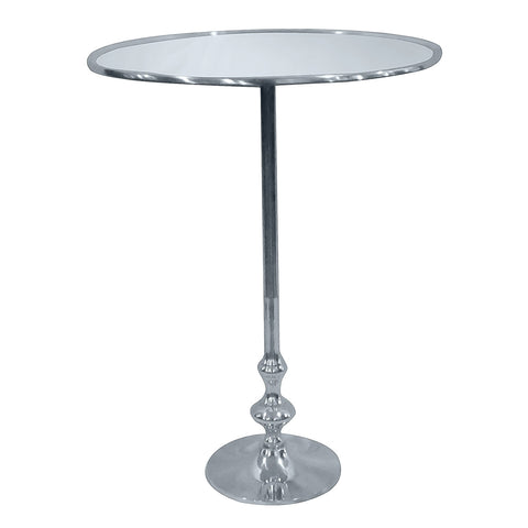 Vevey Round Aluminum Side Table, Aluminum