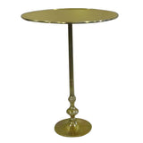 Vevey Round Aluminum Side Table, Gold