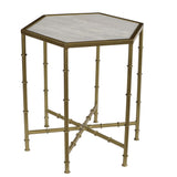 Toulon Iron & Marble Side Table