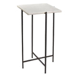 Colmar Iron & Marble Side Table