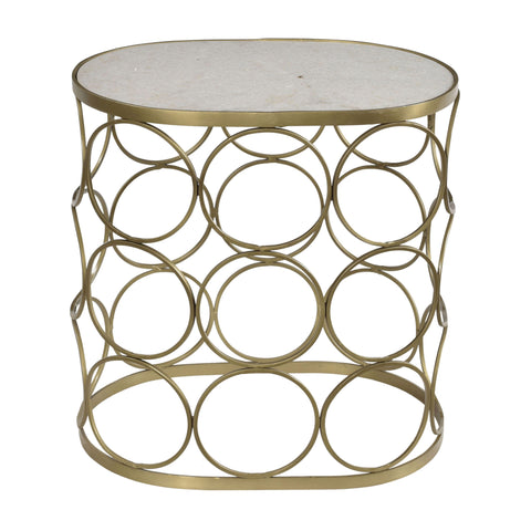 Ostend Iron and Marble Side Table