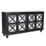 James Wood & Marble Sideboard, Black