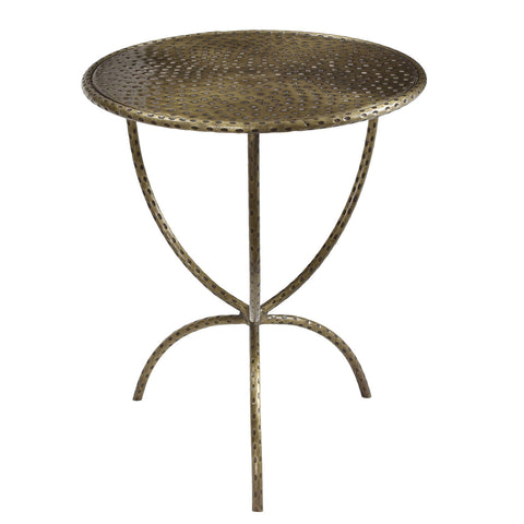 Hadley Iron Side Table, Brass