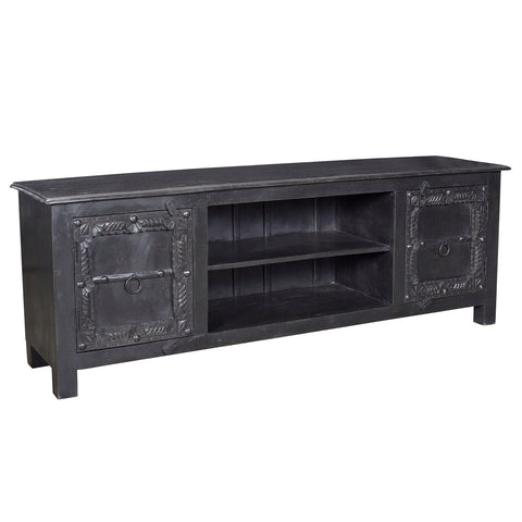 Annie Wooden Media Stand, Black