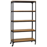 Bedford Library Shelves, Rustic Gray Wash