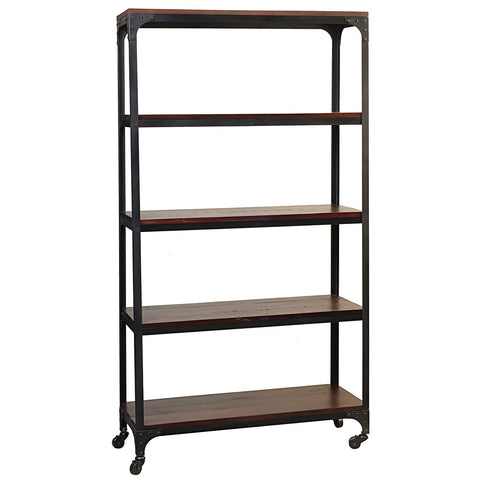 Bedford Library Shelves, Rustic Tobacco