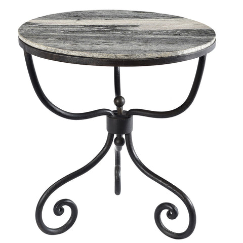 Leicester Iron and Marble Table