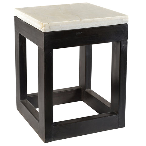Coventry Iron and Marble Side Table