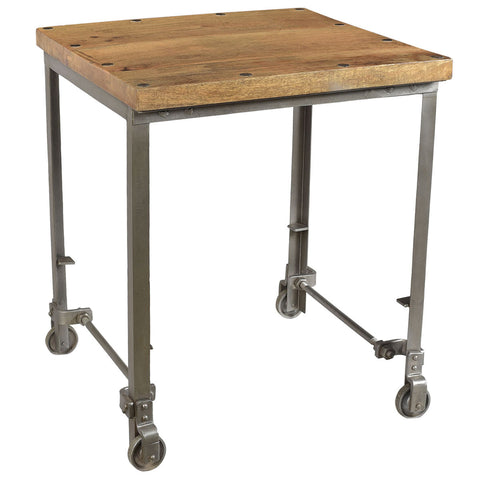 Exeter Iron and Wood Side Table