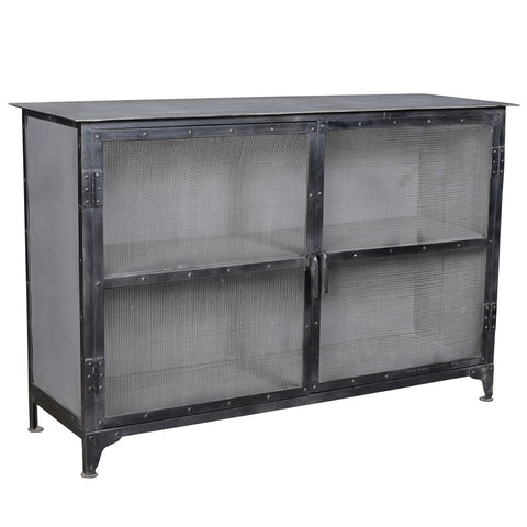 Blackpool Iron Sideboard, Black & Gray