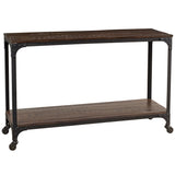 Bedford Console, Rustic Dark Gray Wash