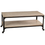 Bedford Coffee Table, Rustic Whitewash