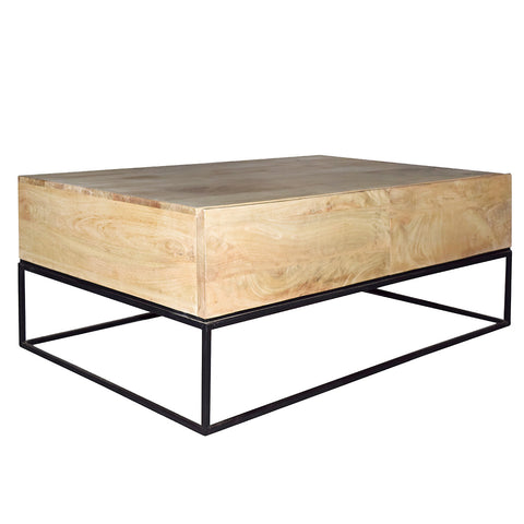 Pavel Coffee Table, Light Wash