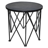 Sanna Round Side Table, Gray Wash