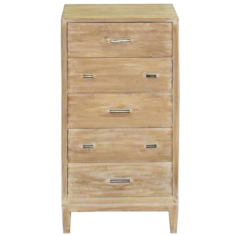 Frode Tall Chest, White Wash