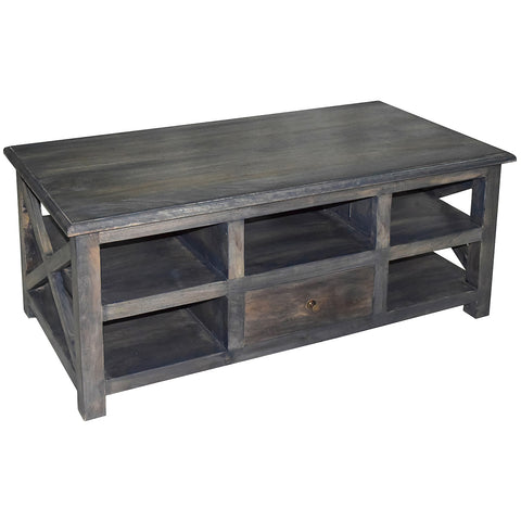 Fillip Coffee Table, Gray Wash