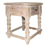 Tora Side Table, White Wash