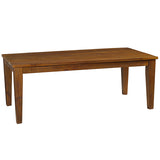 Liam Chunky Leg Dining Table, Rustic Honey