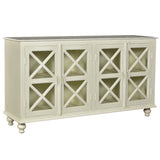 James Wood & Marble Sideboard, Light Whitewash