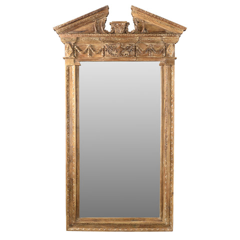 Donata Wood Mirror, Sun Bleach Limewash