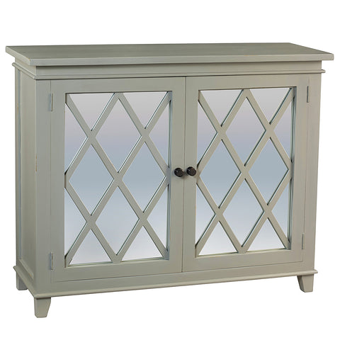 Diamond Mirror Cabinet, Glacier Gray