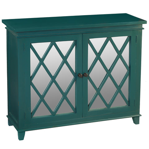 Diamond Mirror Cabinet, Ocean Green