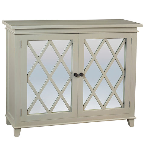 Diamond Mirror Cabinet, Silver Gray