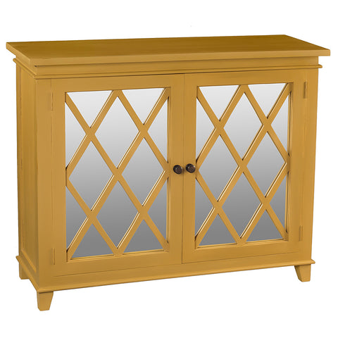 Diamond Mirror Cabinet, Sunset Gold