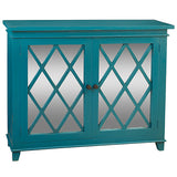 Diamond Mirror Cabinet, Teal