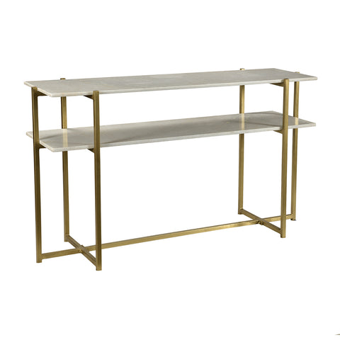 Acorn Iron and Marble Console Table