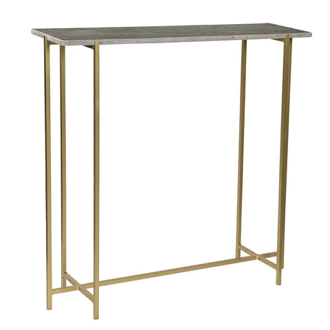 Anchor Iron and Marble Console Table, Gray