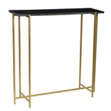 Anchor Iron and Marble Console Table, Black