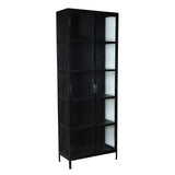 Giorgia Iron & Glass Cabinet, Black