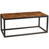 End Grain Coffee Table, Brown