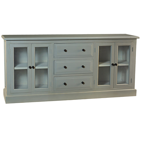 Caroline Glass Door Buffet, Glacier Gray