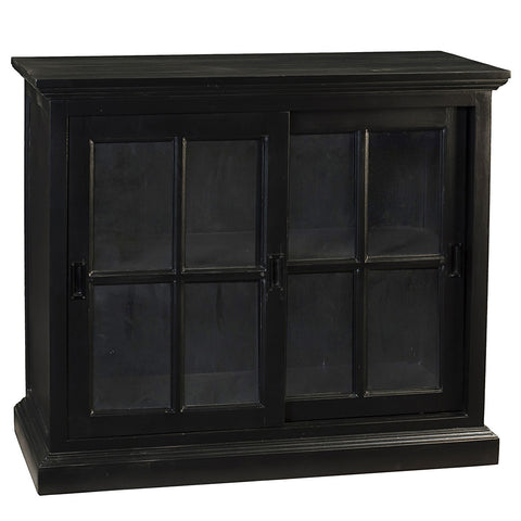 Emily Glass Cabinet, Black