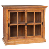 Emily Glass Cabinet, Gray Wash